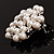 Snow White Simulated Glass Pearl Corsage Brooch - view 7