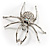 Giant Clear Crystal Spider Brooch - view 8