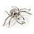 Giant Clear Crystal Spider Brooch - view 4