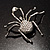 Giant Clear Crystal Spider Brooch - view 10