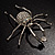 Giant Clear Crystal Spider Brooch - view 5