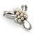 Fancy Simulated Pearl Bow Brooch - view 7