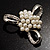 Fancy Simulated Pearl Bow Brooch - view 8