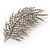 Statement Crystal Leaf Brooch
