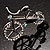Rhodium Plated Crystal Bicycle Brooch - view 4