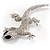 Sparkling Crystal Lizard Brooch - view 7