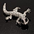 Sparkling Crystal Lizard Brooch - view 3