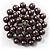 Black Glass Pearl Corsage Brooch