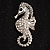 Crystal Seahorse Fashion Brooch - view 7