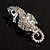 Crystal Seahorse Fashion Brooch - view 8