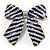 Large Enamel Crystal Bow Brooch (Blue)