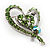 Green Crystal Heart Brooch - view 4