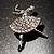 Clear Crystal Ballerina Brooch - view 2