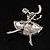 Clear Crystal Ballerina Brooch - view 5
