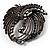 Vintage Black Bow Crystal Brooch - view 5