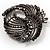 Vintage Black Bow Crystal Brooch - view 3