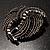 Vintage Black Bow Crystal Brooch - view 8
