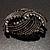 Vintage Black Bow Crystal Brooch - view 9