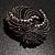 Vintage Black Bow Crystal Brooch - view 6