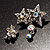 Pair of Stars and Flower Crystal Set Of 2 Brooches - view 2