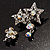 Pair of Stars and Flower Crystal Set Of 2 Brooches - view 9