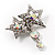Pair of Stars and Flower Crystal Set Of 2 Brooches - view 3