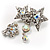 Pair of Stars and Flower Crystal Set Of 2 Brooches - view 10