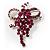 Magenta Crystal Grapes Brooch