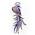 Gigantic Purple Enamel Peacock Fashion Brooch