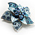 3D Enamel Crystal Flower Brooch (Blue&Sky Blue) - view 3