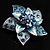 3D Enamel Crystal Flower Brooch (Blue&Sky Blue) - view 8