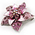 3D Enamel Crystal Flower Brooch (Pink) - view 6