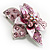 3D Enamel Crystal Flower Brooch (Pink) - view 3
