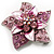 3D Enamel Crystal Flower Brooch (Pink) - view 8