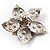 3D Enamel Crystal Flower Brooch (Pink) - view 9