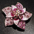 3D Enamel Crystal Flower Brooch (Pink) - view 10