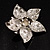 3D Enamel Crystal Flower Brooch (Pink) - view 7
