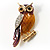 Multicoloured Crystal Owl Brooch - view 5