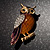 Multicoloured Crystal Owl Brooch - view 9