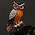 Multicoloured Crystal Owl Brooch - view 10