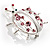 Large Crystal Lady Bug Fashion Brooch (Pink) - view 5