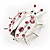 Large Crystal Lady Bug Fashion Brooch (Pink) - view 6