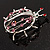 Large Crystal Lady Bug Fashion Brooch (Pink) - view 7