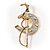 Gold Tone Polo Mallet &amp; Horse Shoe Brooch