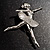 'Dancing Ballerina' Fashion Brooch