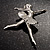 'Dancing Ballerina' Fashion Brooch - view 8