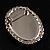 Silver Tone Crystal Glass Cameo Brooch (Black&White) - view 5