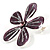 Purple Glittering Daisy Brooch - view 5
