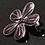 Purple Glittering Daisy Brooch - view 3