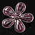 Purple Glittering Daisy Brooch - view 2